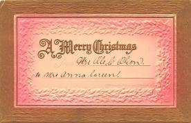 hol052501 - Christmas Postcard Old Vintage Antique Post Card