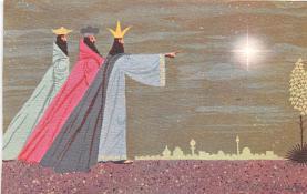 hol052517 - Christmas Postcard Old Vintage Antique Post Card