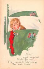 hol052519 - Christmas Postcard Old Vintage Antique Post Card
