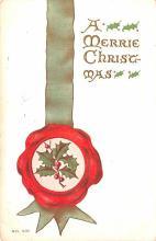 hol052529 - Christmas Postcard Old Vintage Antique Post Card