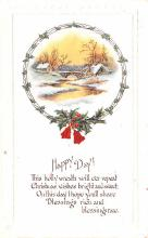 hol052531 - Christmas Postcard Old Vintage Antique Post Card