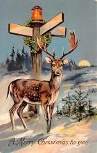 hol052545 - Christmas Postcard Old Vintage Antique Post Card