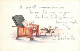 hol052547 - Christmas Postcard Old Vintage Antique Post Card