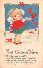 hol052549 - Christmas Postcard Old Vintage Antique Post Card