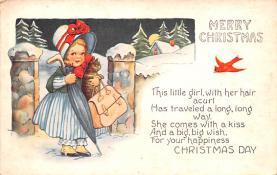 hol052553 - Christmas Postcard Old Vintage Antique Post Card