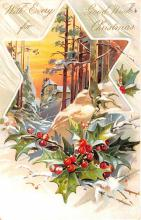 hol052555 - Christmas Postcard Old Vintage Antique Post Card