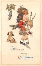 hol052557 - Christmas Postcard Old Vintage Antique Post Card