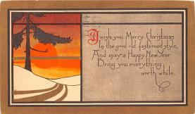 hol052559 - Christmas Postcard Old Vintage Antique Post Card
