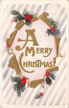 hol052563 - Christmas Postcard Old Vintage Antique Post Card