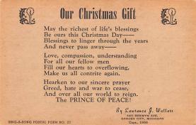 hol052569 - Christmas Postcard Old Vintage Antique Post Card
