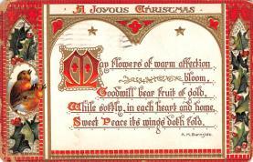 hol052573 - Christmas Postcard Old Vintage Antique Post Card