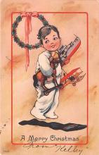 hol052577 - Christmas Postcard Old Vintage Antique Post Card
