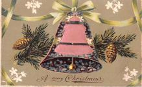 hol052579 - Christmas Postcard Old Vintage Antique Post Card