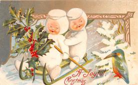 hol052585 - Christmas Postcard Old Vintage Antique Post Card