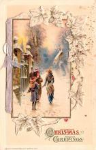 hol052587 - Christmas Postcard Old Vintage Antique Post Card