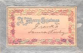 hol052589 - Christmas Postcard Old Vintage Antique Post Card