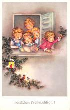 hol052595 - Christmas Postcard Old Vintage Antique Post Card