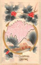 hol052597 - Christmas Postcard Old Vintage Antique Post Card
