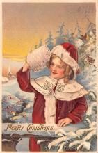hol052601 - Christmas Postcard Old Vintage Antique Post Card