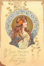 hol052605 - Christmas Postcard Old Vintage Antique Post Card
