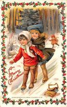 hol052607 - Christmas Postcard Old Vintage Antique Post Card