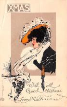 hol052609 - Christmas Postcard Old Vintage Antique Post Card