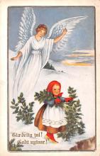 hol052613 - Christmas Postcard Old Vintage Antique Post Card
