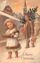 hol052619 - Christmas Postcard Old Vintage Antique Post Card