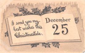 hol052625 - Christmas Postcard Old Vintage Antique Post Card