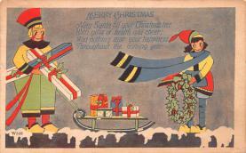 hol052631 - Christmas Postcard Old Vintage Antique Post Card