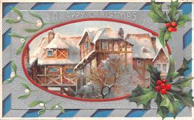 hol052633 - Christmas Postcard Old Vintage Antique Post Card