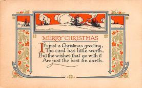 hol052635 - Christmas Postcard Old Vintage Antique Post Card