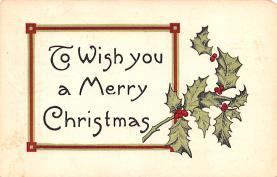 hol052637 - Christmas Postcard Old Vintage Antique Post Card