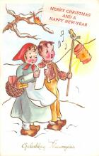 hol052639 - Christmas Postcard Old Vintage Antique Post Card