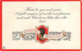 hol052641 - Christmas Postcard Old Vintage Antique Post Card