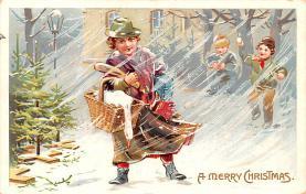 hol052643 - Christmas Postcard Old Vintage Antique Post Card