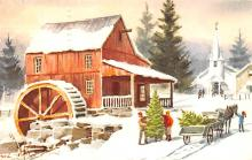 hol052645 - Christmas Postcard Old Vintage Antique Post Card