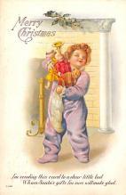 hol052647 - Christmas Postcard Old Vintage Antique Post Card