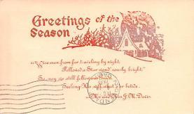 hol052651 - Christmas Postcard Old Vintage Antique Post Card