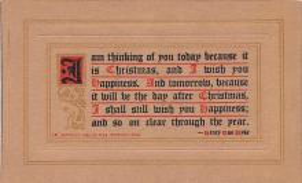 hol052655 - Christmas Postcard Old Vintage Antique Post Card
