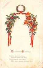 hol052657 - Christmas Postcard Old Vintage Antique Post Card