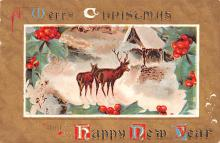 hol052665 - Christmas Postcard Old Vintage Antique Post Card