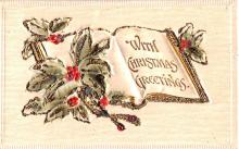 hol052673 - Christmas Postcard Old Vintage Antique Post Card