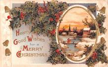 hol052679 - Christmas Postcard Old Vintage Antique Post Card