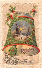 hol052681 - Christmas Postcard Old Vintage Antique Post Card