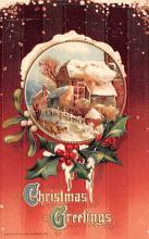 hol052697 - Christmas Postcard Old Vintage Antique Post Card