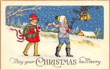 hol052701 - Christmas Postcard Old Vintage Antique Post Card