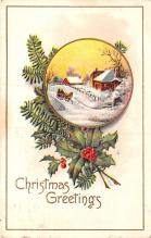hol052703 - Christmas Postcard Old Vintage Antique Post Card