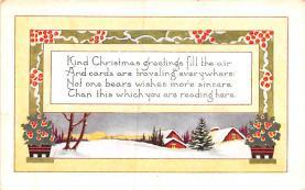 hol052711 - Christmas Postcard Old Vintage Antique Post Card