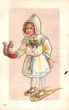hol052717 - Christmas Postcard Old Vintage Antique Post Card